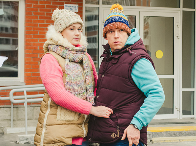 "Svetlana Kolpakova, Sergey Lavygin, TV series ""Mommies"", photo"