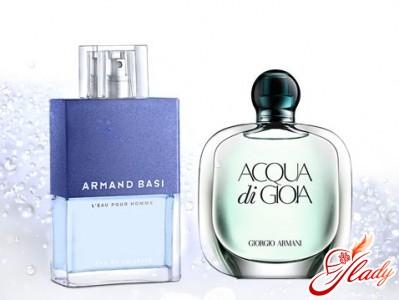 """L'Eau Pour Homme"" from ""Armand Basi"" and ""Acqua di Gioia"" by Giorgio Armani"