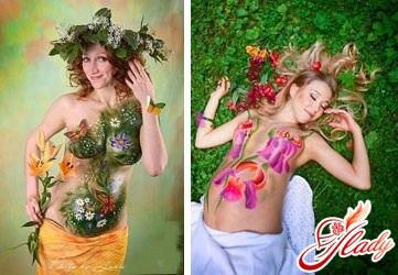 body art for pregnant women