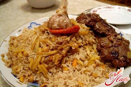 delicious Azerbaijani pilaf