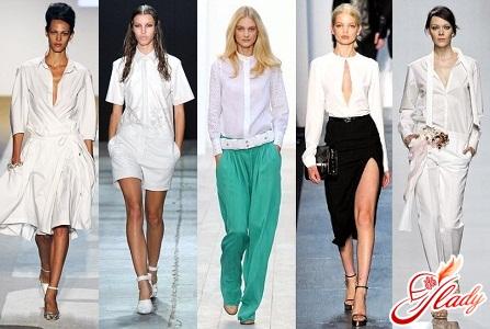fashionable white blouse 2016