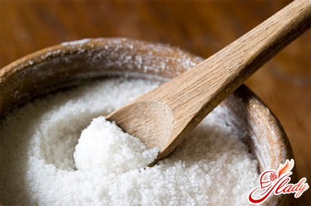 a salt-free diet to remove fluid from the body
