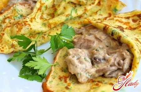 pancakes with mushrooms recipe