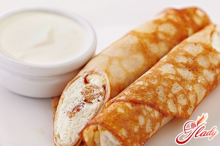 pancakes with curd