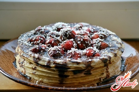 pancake cake with bananas