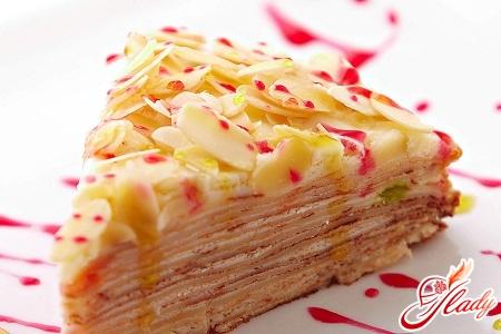 pancake cake with curd cream