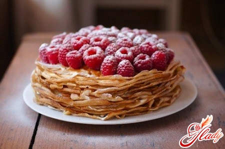pancake cake with cottage cheese