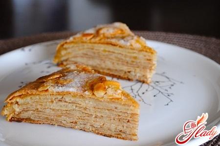 cake pancake with custard