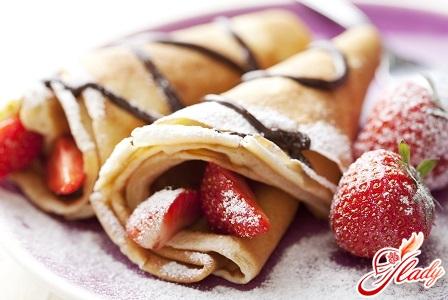 pancakes with yogurt filling