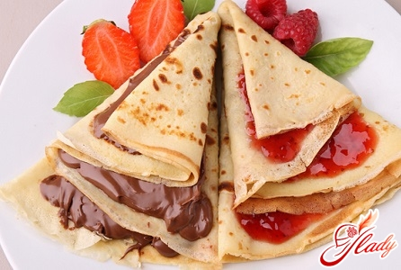 pancakes with fillings
