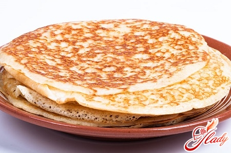 classic pancakes on milk