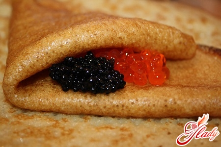 pancakes with caviar recipe
