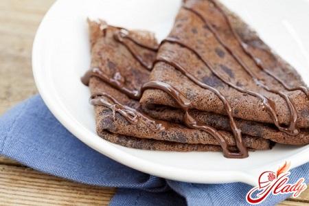 chocolate pancakes with chocolate