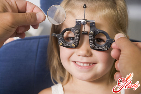 diagnosis of eyesight in an ophthalmologist