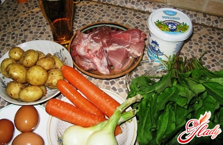 ingredients for borsch