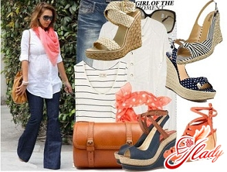 sandals with a wedge with what to wear