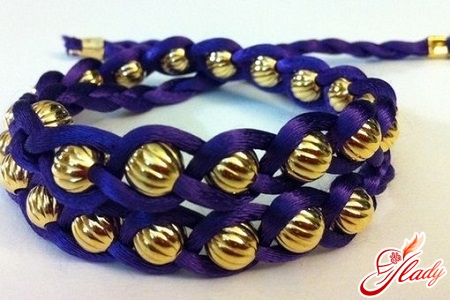 double row bracelet from beads