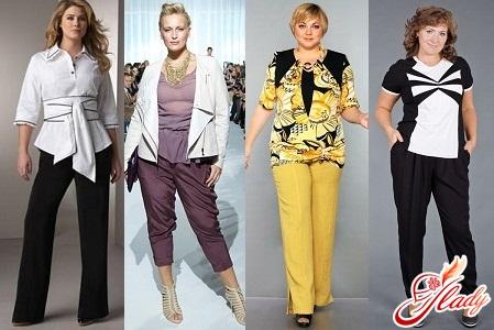 брюки для повних жінок фото