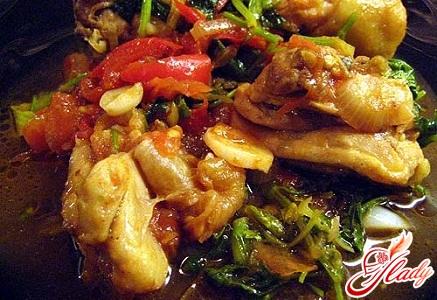 chakhokhbili from chicken in Georgian