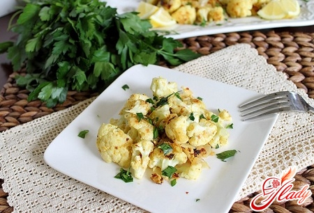 tasty cauliflower in batter