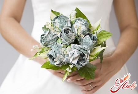 flowers from money by own hands