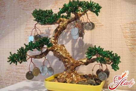 cash tree of beads