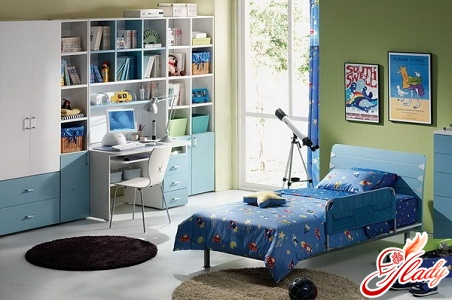 interior of a children's room for a girl
