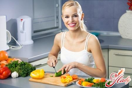 menu on the diet of Kim Protasov
