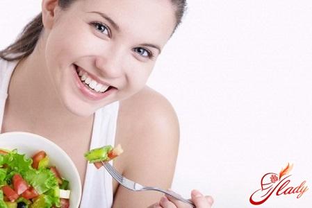 diet with exacerbation of gastritis