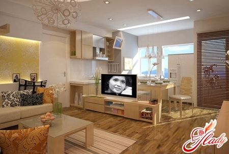 design of a one-room apartment