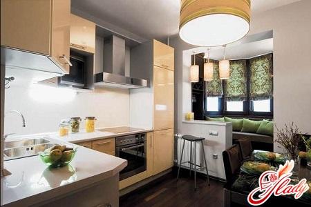 kitchen design with balcony