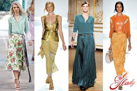 fashionable style of long skirts photo