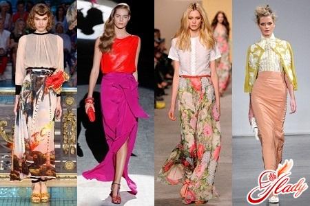 long fashionable skirts