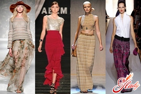 what a long skirt is fashionable in 2012