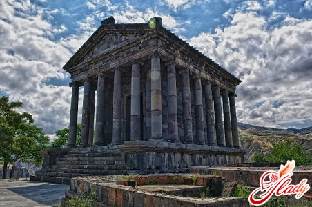 The pagan (ancient Greek, restored) Garni temple
