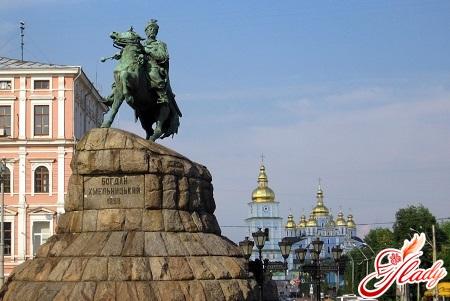 a monument to Bogdan Khmelnytsky