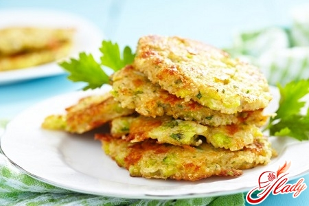 delicious potato pancakes from courgettes
