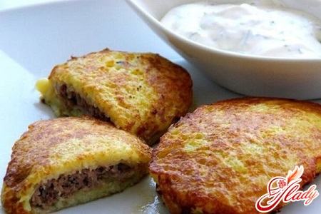 recipe of potato pancakes with meat