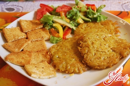 different recipes of potato pancakes