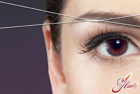 fjerne hår med tråd