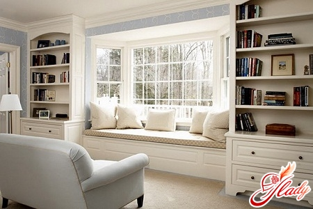 design of a room with a bay window