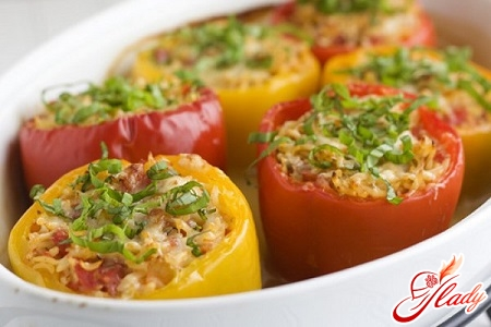 different recipes stuffed with peppers