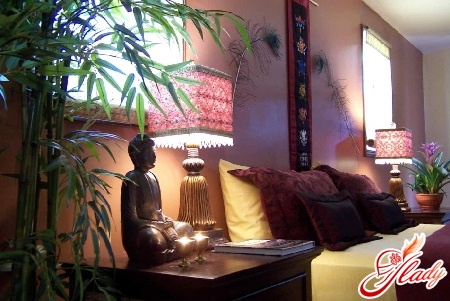 Buddha figure in the apartment on Feng Shui