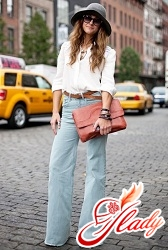 jeans flared from hip