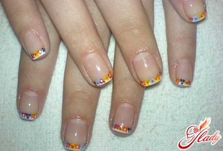 manicure on short nails french