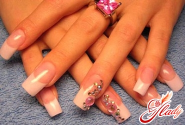 how to decorate nails with rhinestones