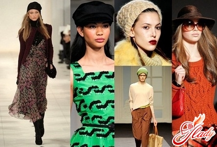 knitted women's berets