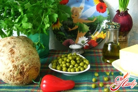 salad with green peas