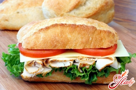 hot sandwich in the oven
