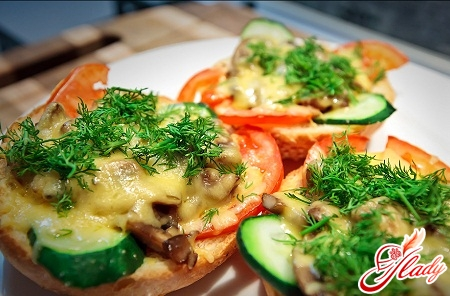 hot sandwiches in the oven